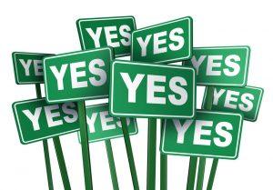 Klant ja laten zeggen op je aanbod